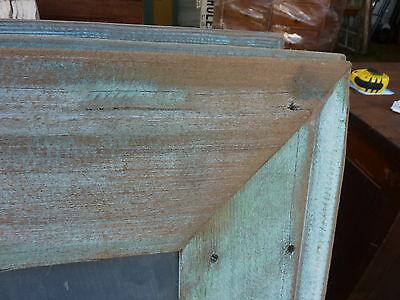 early 20th century schoolhouse SLATE chalkboard salvaged wood FRAME 45.5 x 30.75 5
