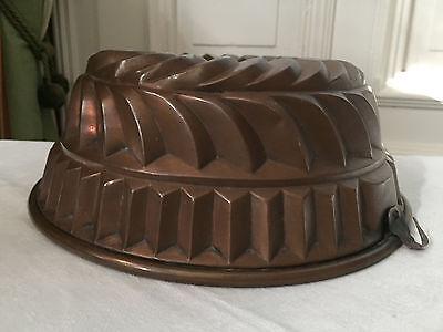 Omas Küche: antike Backform Gugelhupf Kupfer Biedermeier Sammlerstück!!!!