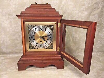 Vtg Mason & Sullivan Bracket Clock Westminster Chimes Runs Strikes Chimes 2
