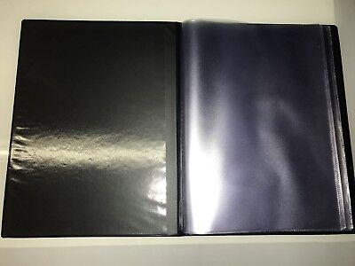 Guest Information  Pvc Folder 7 A4 Double Pockets Ref Black/Gold 2