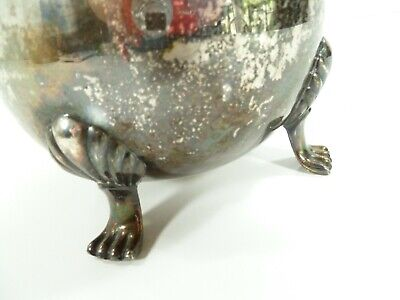 """Vintage Leonard Silver Plate Footed Water Pitcher with Ice Lip 8 1/2"""" Patina 4"""
