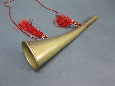 Messing farbenes Stethoskop Hörrohr Hearing Pipe Hörmaschine Ear Trumpet 22 cm 4