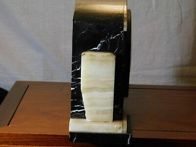 French Art Deco c1930's UCRA Marble Mantle Clock w/Garnitures 8