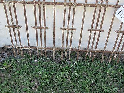 Antique Victorian Iron Gate Window Garden Fence Architectural Salvage Door #173 3