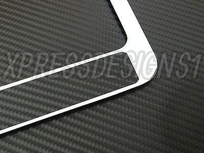 Hummer H3 license plate frame chrome metal chrome text carbon fiber details