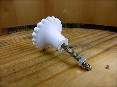 6 WHITE BLACK DOT FLOWER GLASS DRAWER CABINET PULLS KNOBS VINTAGE chic hardware 11