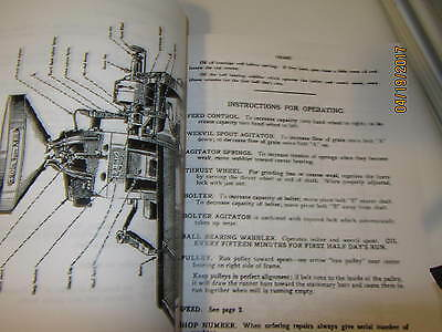 1923 International Harvester Meadows Grist Mill Instruction/Parts manual 3
