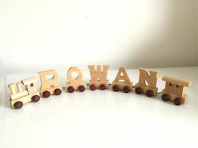 Personalised wooden name train : Use wooden letters to spell a personalised name 6