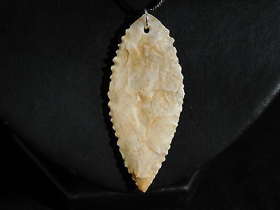 An Ancient Serrated North African Arrowhead Made into a Pendant Niger 7.71 e 5