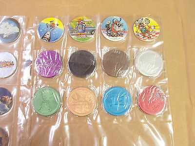 MCDONALDS POGS NORTHERN CALIFORNIA COMPLETE SET of ALL 8 NICE COLORFUL