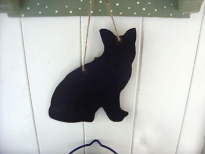 CAT SAT SHAPE chalkboard blackboard birthday xmas gift handmade christmas a 2