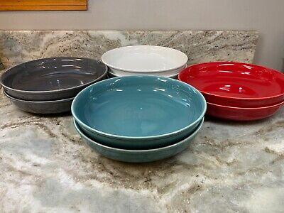 New Large Melamine Pasta Bowls Bone White Or Sky Blue 9x2 Inch Set Of 4 Nautica