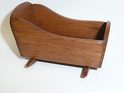 Miniature Dollhouse 1:12 Scale Artisan Made Cradle, Country Pine by Ed Whitten