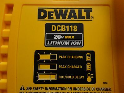 DEWALT DCB118 20V 60V MAX FLEXVOLT Lithium Ion Fan Cooled Fast Charger DCB118B 5