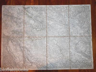 Vintage Folding Map c1880 of Sessana und St Peter (Italy/Italian) Zone 23, Col X 2