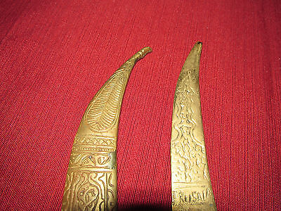Antique Russian/persian Letter Opener Knife Kinjal, Heavy Brass 4
