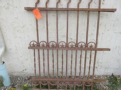 Antique Victorian Iron Gate Window Garden Fence Architectural Salvage Door #312 3