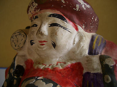 Japan vintage clay doll Mahakala One of the Seven Lucky Gods antique #12104 5