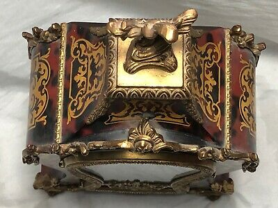 1 Large Antique Louis XVI French Style Gilt Ormolu Boulle Mantle Clock 6