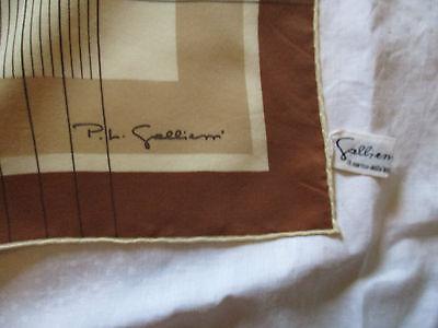 FOULARD VINTAGE P.L GALLIENI Soie TBE étiquette scarf - EUR 7,90 ... 62902fe27a5
