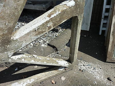 "LARGE single railroad station DEPOT CORBEL bracket brace 94 x 63 x 3.75"" ~ AS IS 3"