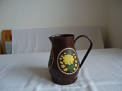 Milchkanne Kanne Vase Trockenblumen Gesteck Metallkanne Dekoration handbemalt 3