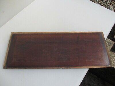 "Antique Wooden Panel Plaque Sign Vintage Old Floral Flowers Victorian 19""x7"" 8"