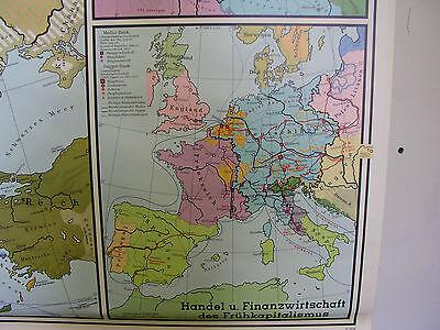 Schulwandkarte Wall Chart Roll Card Map Europa 15.Jh Century 204x134 2