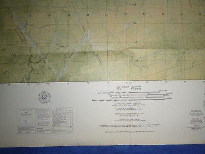 6029 i S- MAP - LONG XUYEN AIRFIELD - Bassac River - An Giang 1966 - Vietnam War