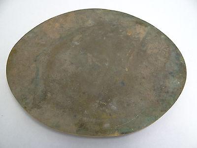 Vintage Old Metal Cast Bronze Brass Oval Round Decorative Casting Shakespeare?