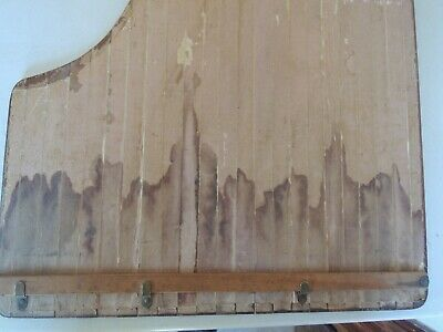 Vintage Unusual Wooden Sewing Table Collapsible Tamboured 6
