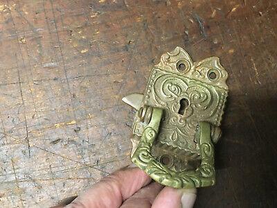 Antique Cast Brass Door/Cupboard Lift Latch Ornate Victorian Door latch 4
