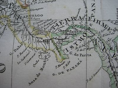 ORIGINAL 1835 SPANISH Map FLORIDA WEST INS Cuba Puerto Rico Panama on map of guiana, map of bahamas, map of south america, map of world, map of colombia, map of nicaragua, map of honduras, map of ecuador, map of canada, map of aruba, map of switzerland, map of puerto rico, map of romania, map of paraguay, map of yemen, map of caracas, map of bolivia, map of greece, map of bonaire,