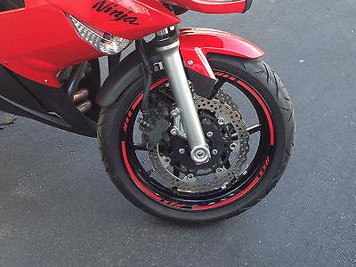 """10/""""  Car Bike Motorcycle Rim Stripe Wheel Tape Decal Sticker U DE55"""