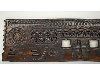 16/17th Century Antique Carved Wood Architectural Decorative Panel 5