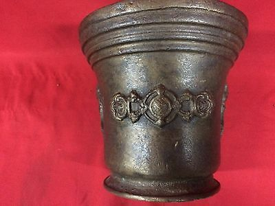 Huge Rare Antique European Bronze Mortar & Pestle Royal Aristrocatic Vase? King 2
