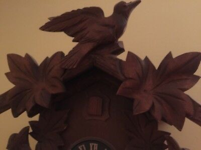 Vintage Hubert Herr Black Forest Cuckoo Clock Made in Germany Bird House 4