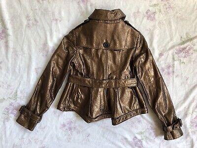 BURBERRY Children Mädchen Jacke Leder Gr.122 6-7 years girls leather jacket belt 2