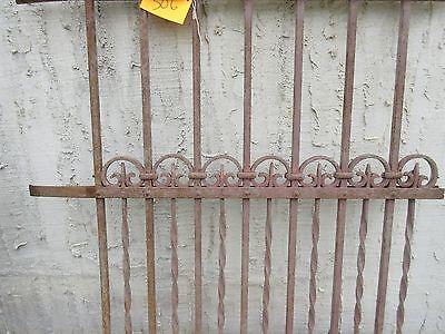 Antique Victorian Iron Gate Window Garden Fence Architectural Salvage Door #306 3