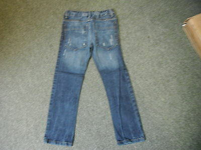 "Cherokee Slim Fit Jeans Waist 26"" Leg 23"" Faded Dark Blue Boys 8/9 Yrs Jeans 2"