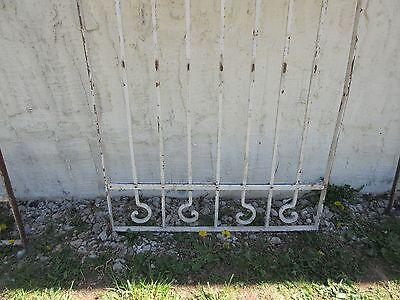 Antique Victorian Iron Gate Window Garden Fence Architectural Salvage Door #376 4
