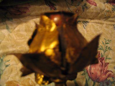 Vintage/Antique Lg Wood carved metal leaf gold gilt wall sconce L@@K 10