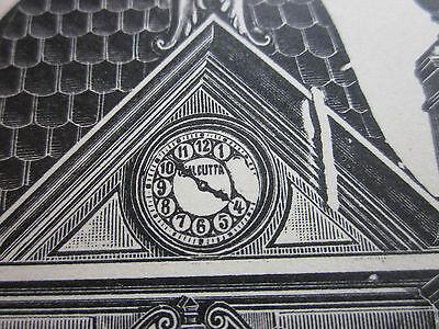 Weltuhr KUNSTUHR August NOLL Villingen 1897 Xylographie stabiles Papier alt !!