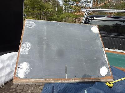 """early 20th century schoolhouse SLATE chalkboard FRAMED OAK molding 49.5"""" x 38"""" 9"""