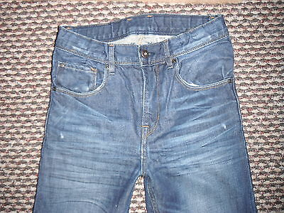 """And & Relaxed Jeans Waist 27"""" Leg 24"""" Faded Dark Blue Boys 10/11 Yrs Jeans 2"""