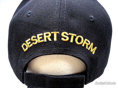 db91c3dee0ce23 3 of 4 DESERT STORM VETERAN Cap   Hat w Shadow Black New U.S. Military  Free