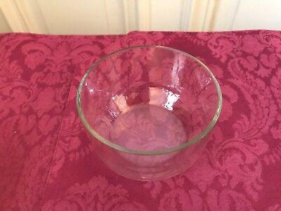 Henkelschale mit Glaseinsatz tolle Girlandenmuster  Versilbert Jugendstil 8