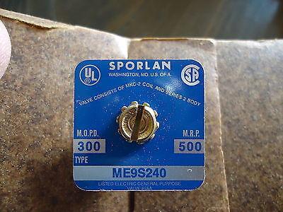 New Sporlan Me9S240 Solenoid Valve M.o.p.d.-300, Mrp 500. 2