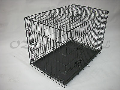 "30""36""42""48 Metal Collapsible Pet Dog Rabbit Puppy Wire Cage Pen Crate Enclosure 5"