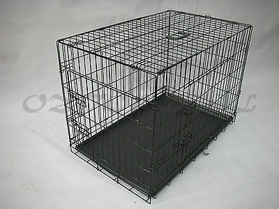 "30""36""42""48 Metal Collapsible Pet Dog Rabbit Puppy Wire Cage Pen Crate Enclosure 4"